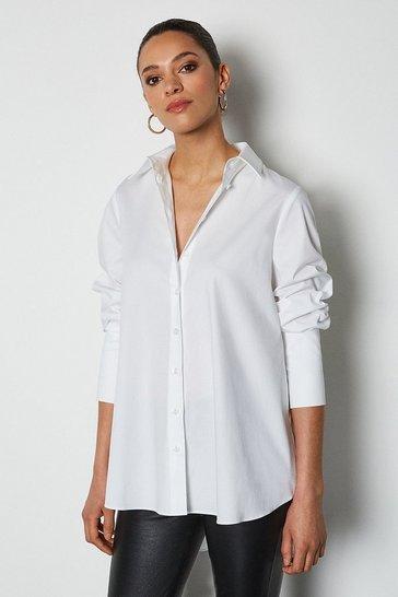 White Oversized Classic Shirt