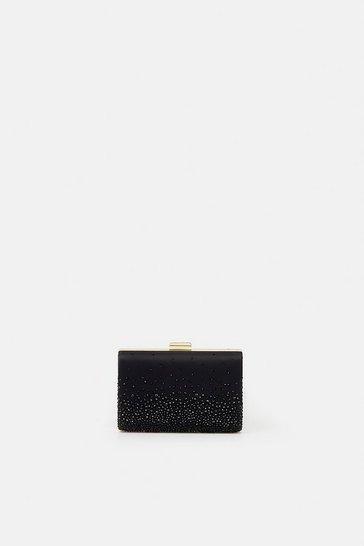 Black Embellished Detail Clutch