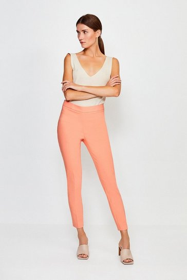 Apricot Essential Cotton Sateen Capri Trousers