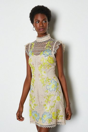 Nude Chemical Lace Dress