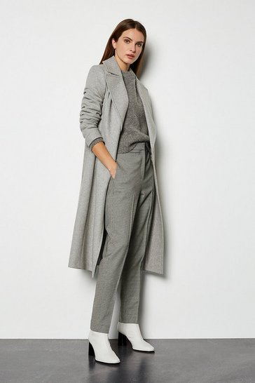Grey Belted Investment Coat