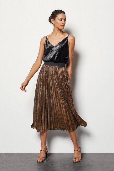 Bronze Metallic Skirt