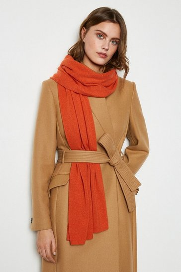 Orange Recycled Cashmere Scarf