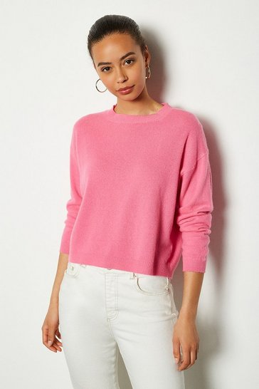 Pink Recycled Cashmere Essential Jumper
