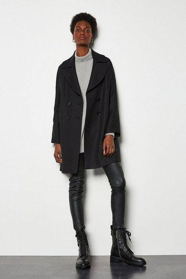 Black Twill Pod Coat