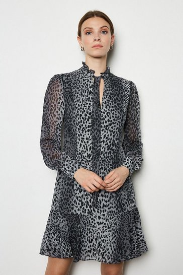 Multi Leopard Print Dress