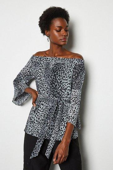 Multi Leopard Print Top