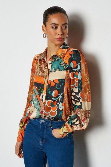 Multi 70's Floral Shirt