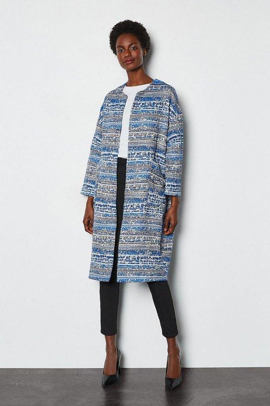 Blue Spring Tweed Coat