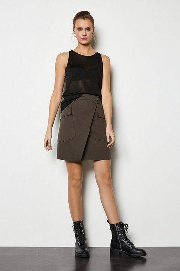 Khaki Utility Skirt