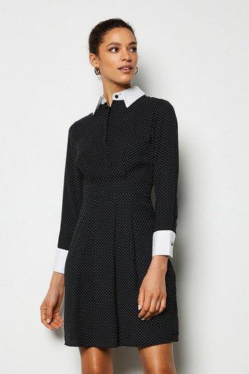 Multi Spot Print Shirt Dress