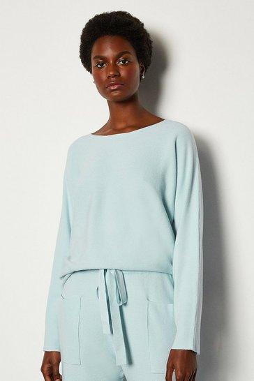 Pale blue Long Sleeve Soft Yarn Jumper