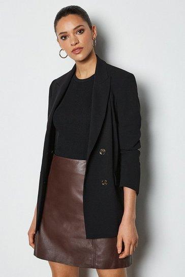 Oxblood Leather Mini Skirt