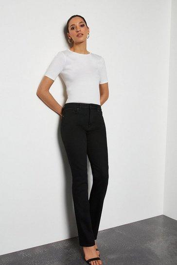 Power Stretch Black Long Kick Jeans
