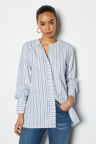 Oversized Poplin Stripe Shirt