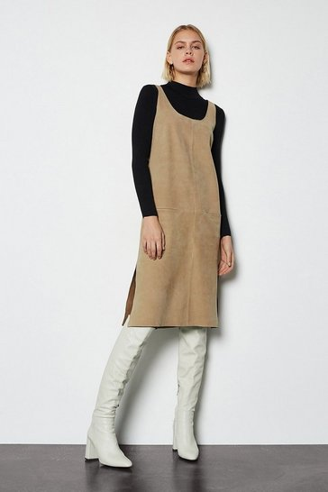 Taupe Suede Tunic Dress