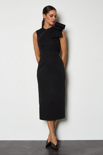 Black Origami Shoulder Dress