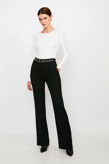 Black Classic Straight Trouser