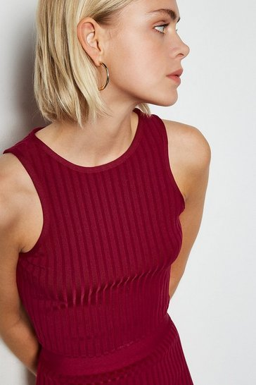 Burgundy Sleeveless bandage top