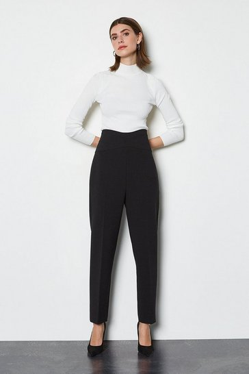 Black Essential Tailored Trousers