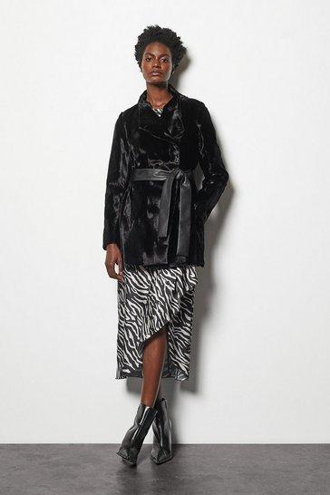 Black Faux-Fur Coat