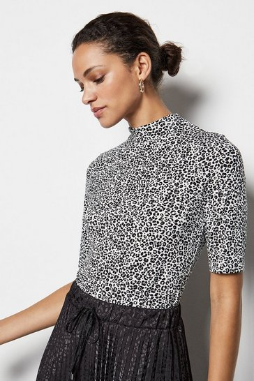Ditsy Leopard Jersey Top
