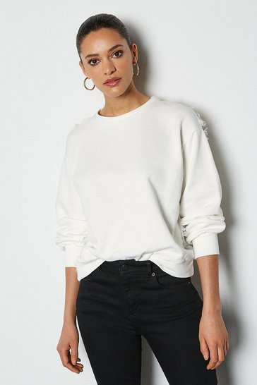 Off white Feather Back Sweater