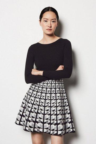 Multi Geo Knit Dress