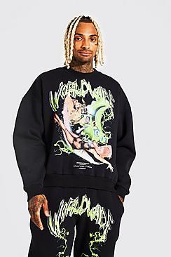 Oversized Worldwide Season Washed Sweatshirt