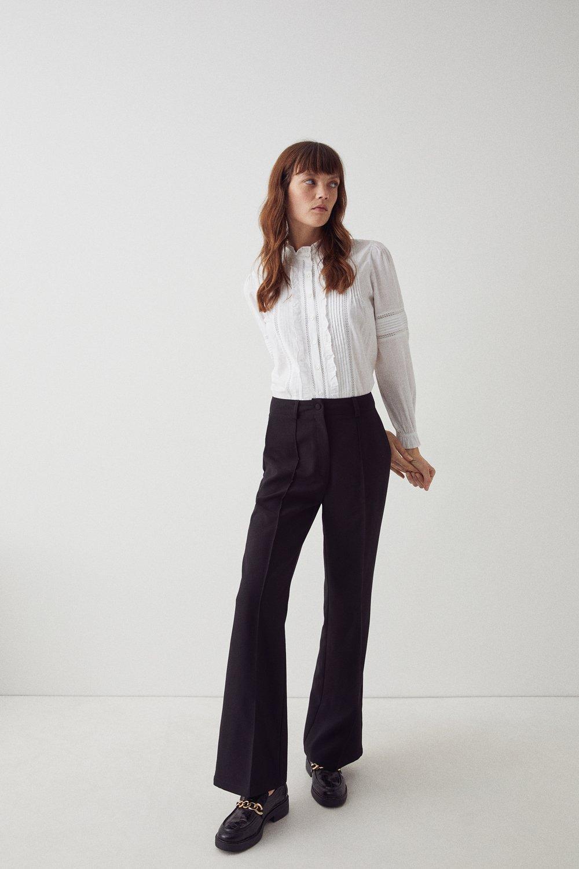 Womens Twill Tailored Kick Flare Trouser