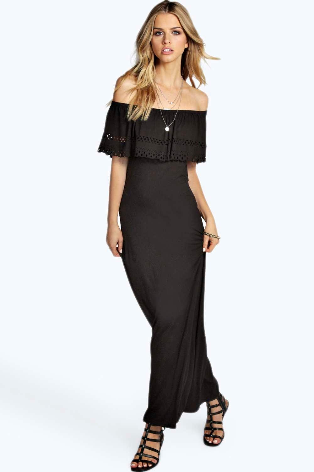 Kate Laser Cut Bandeau Maxi Dress