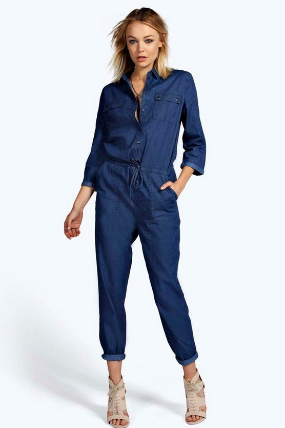 Stacy Denim Boiler Suit