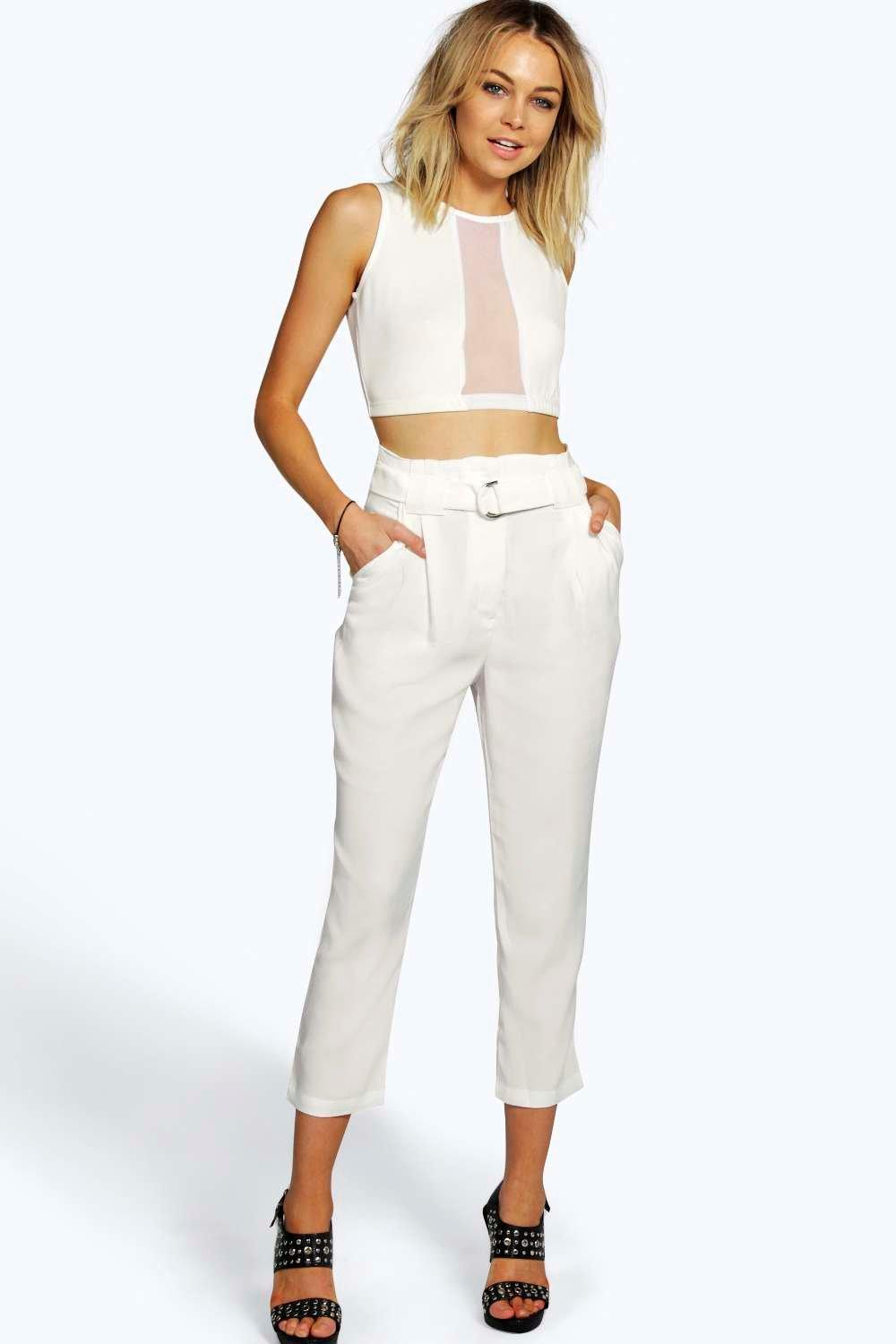 Boutique Tamera Tapered D Ring Detail Trousers