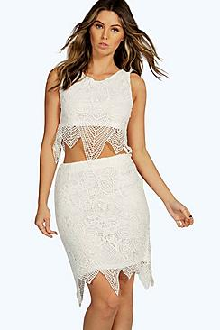Boutique Kizzy Crochet Lace Skirt