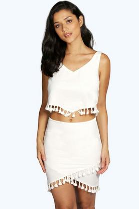 Boutique Keira Tassel Skirt