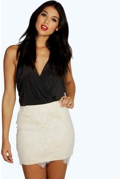 Boutique Sian Contrast Lace Skirt