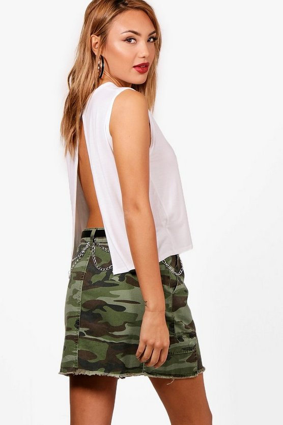 Natasha Basic Split Back Cropped Vest