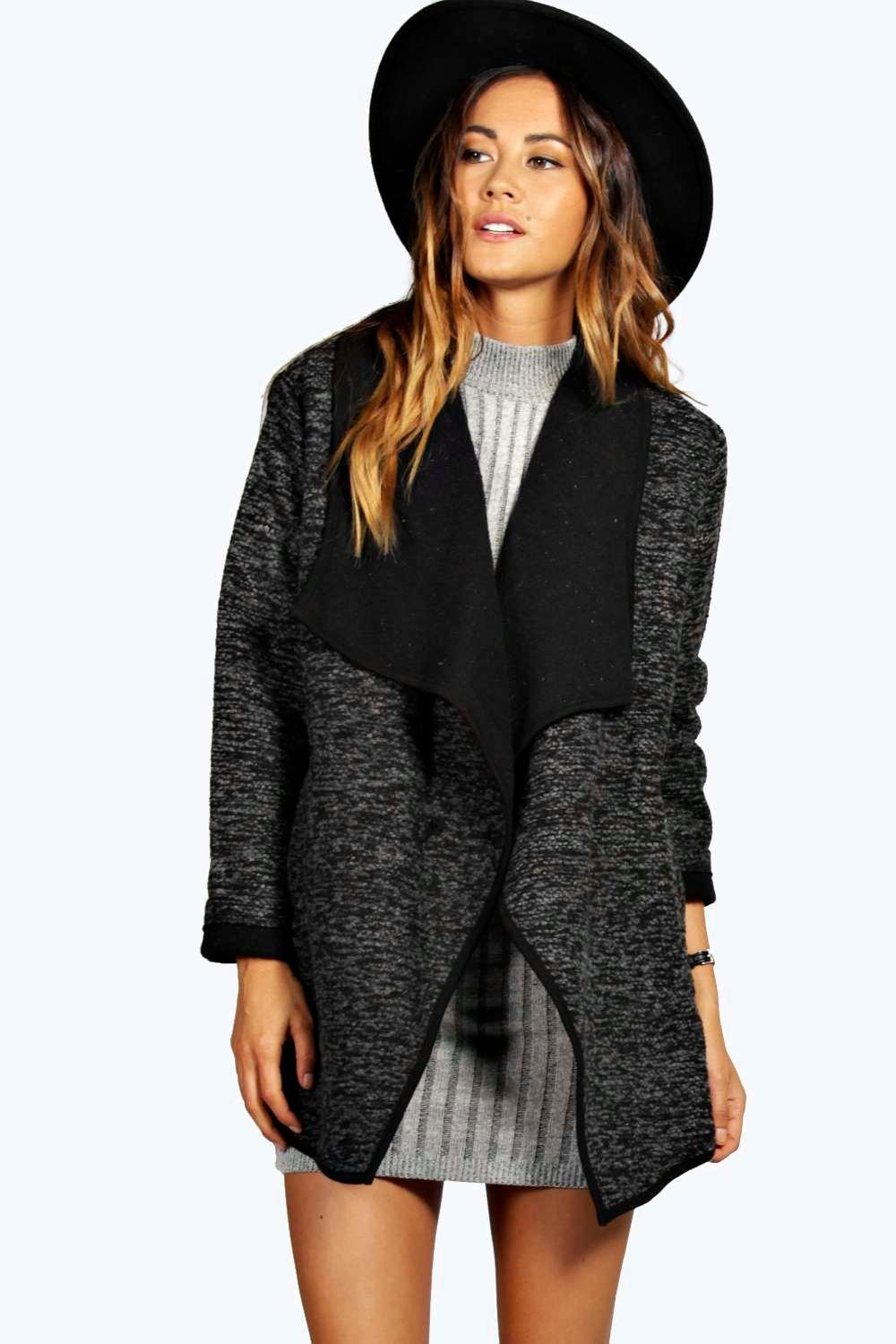 Salina Boucle Waterfall Coat