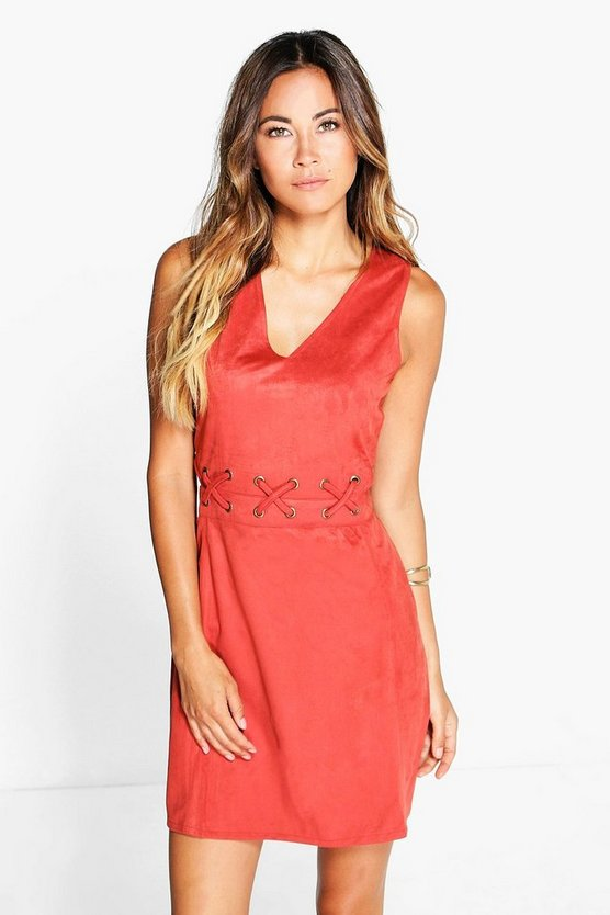 Arianna Boutique Eyelet A Line Shift Dress
