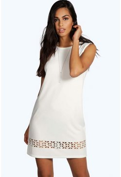 Lisa Laser Cut Sleeveless Shift Dress