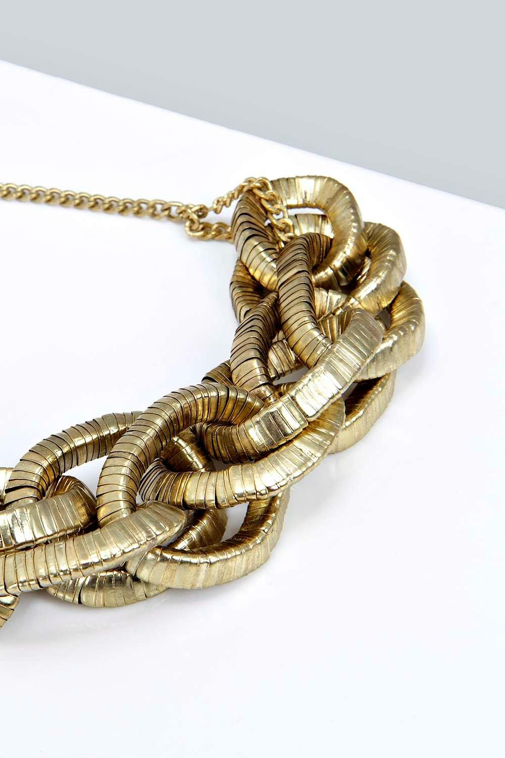About boohoo womens lily chunky chain necklace in gold size one size