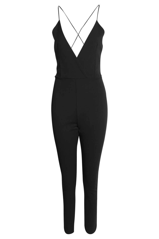 Jenna Deep Plunge Jumpsuit at boohoo.com