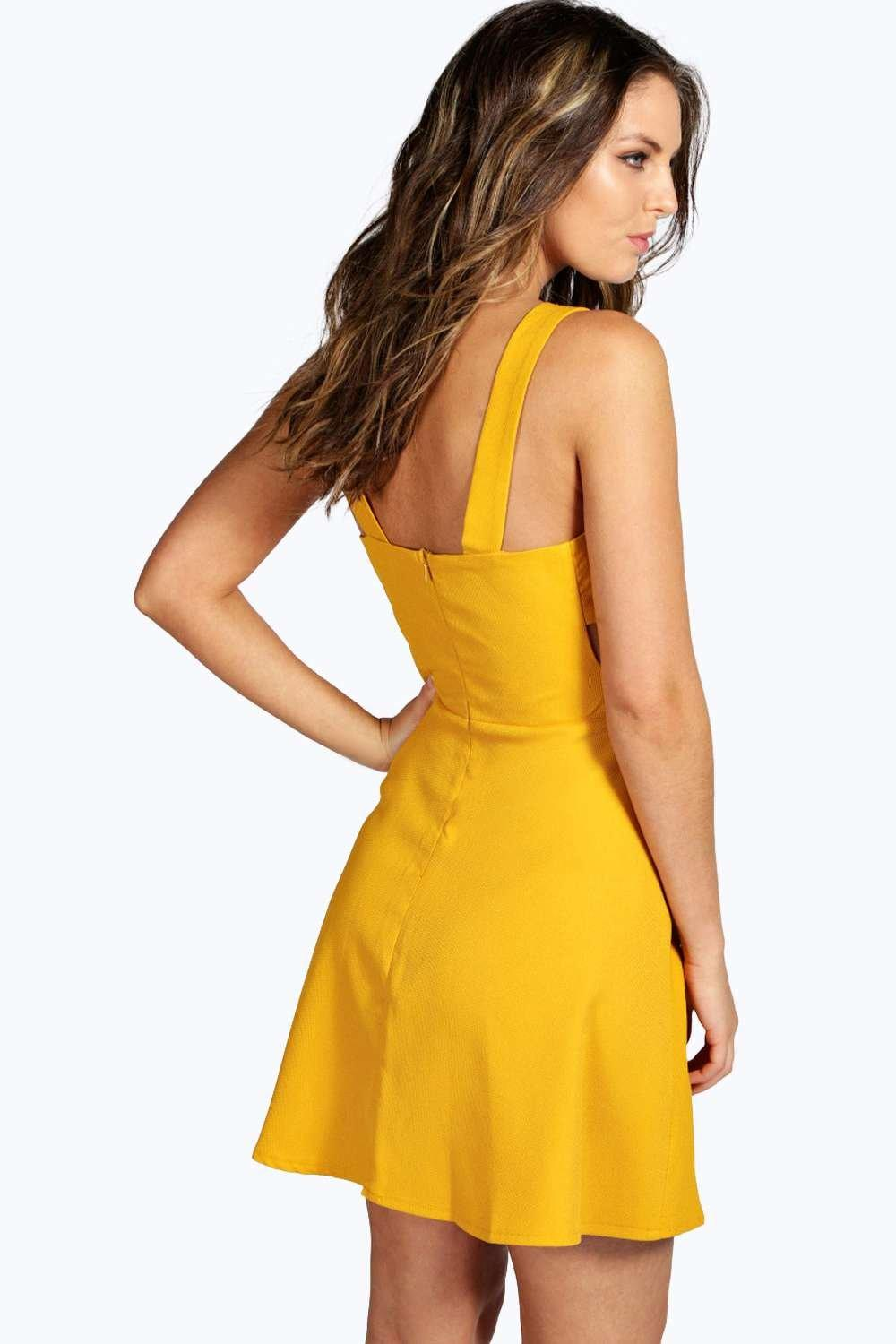 Ebay yellow skater dress pic