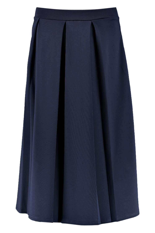 boohoo womens beau box pleat midi skirt ebay