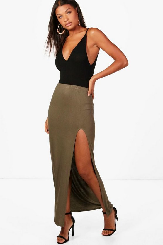 Soraya Thigh Split Jersey Maxi Skirt