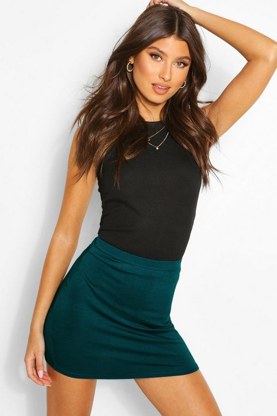 Basic Jersey Mini Skirt
