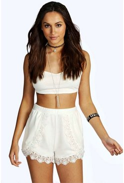 Kayley Crochet Trim Runner Shorts