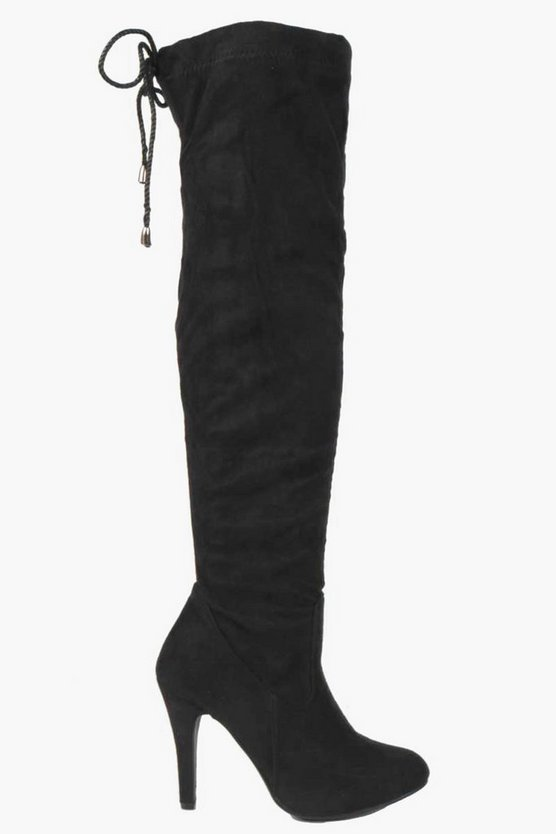 Isla Stretch Over Knee Pointed Boots