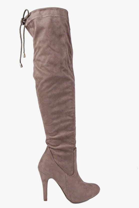 Isla Stretch Over Knee Pointed Boot