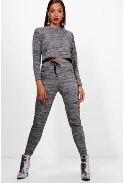 Milan Space Dye Lounge Top And Jogger Set